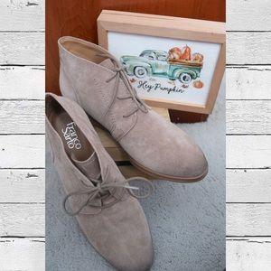 Unworn Franco Sarto Percy Booties (Grey)